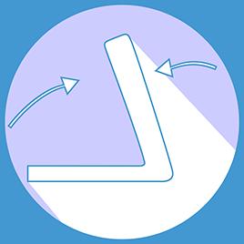 Masse zusammengeklappt: (L) 28 cm (B) 39 cm (H) 130 cm