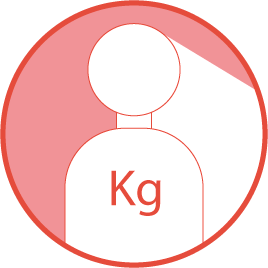 Maximales Körpergewicht des Benutzer
